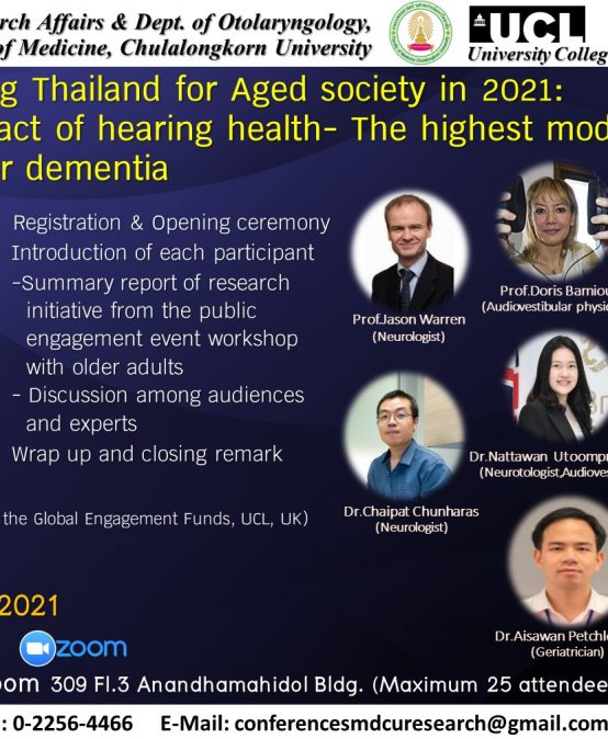 Preparing Thailand for Aged society in 2021