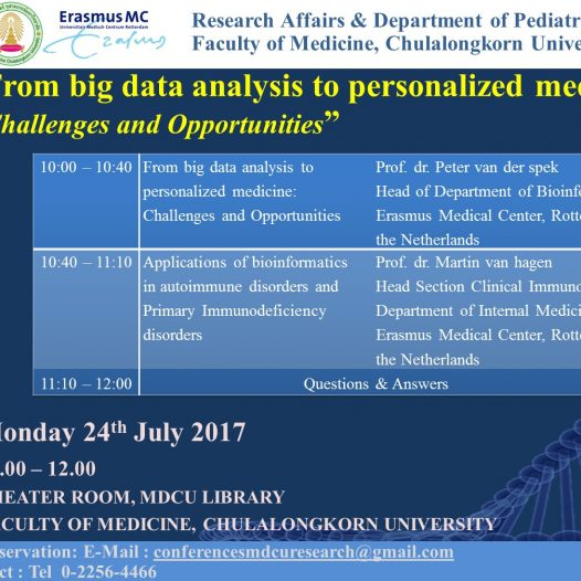 From big data analysis to personalized medicine: Challenges and Opportunities