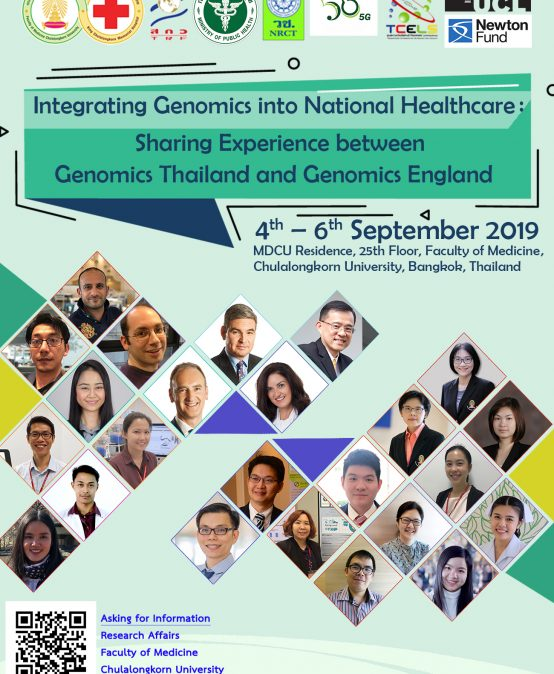 Integrating Genomics into National Healthcare:  Sharing Experience between Genomics Thailand and Genomics England
