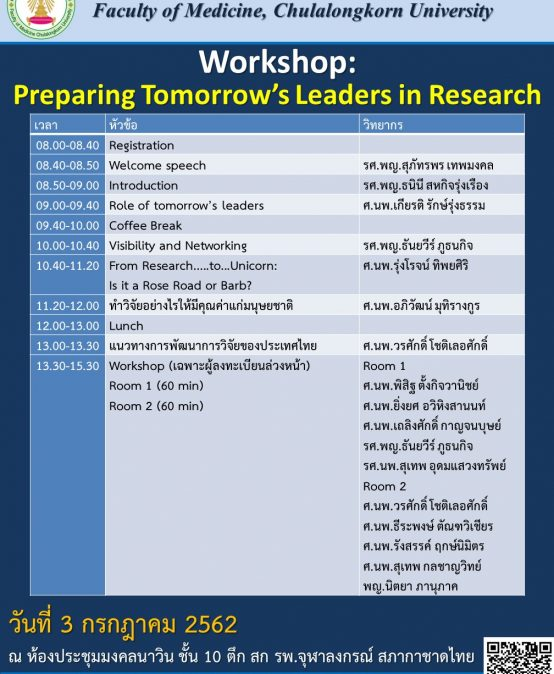 Preparing tomorrow's leader in research