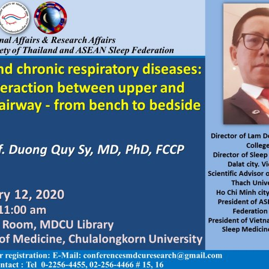 OSA and chronic respiratory diseases: the interaction between upper and lower airway – from bench to bedside